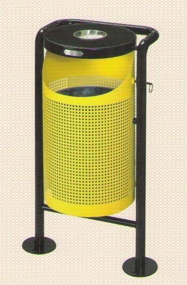 户外垃圾桶(铁烤漆) 产品规格:直径360*h910