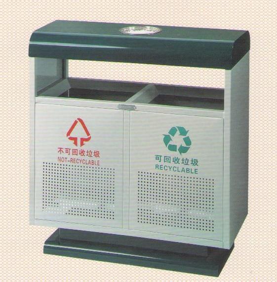 户外金属垃圾桶分类垃圾桶